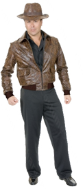 Leather Jacket - Distressed Brown