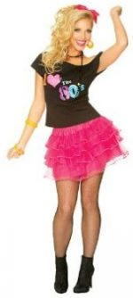 80's petticoat skirt hot pink