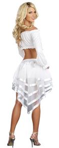 Fairytale Petticoat - high-low hem - mesh and sati
