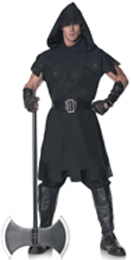 Executioner hood tunic collar pants arm cuffs