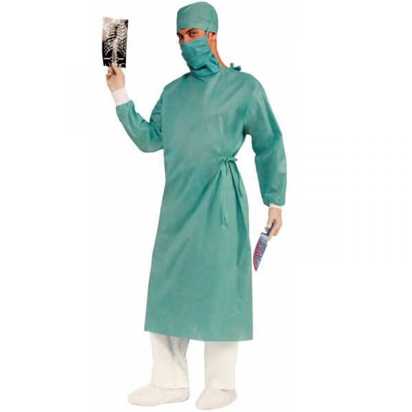 Master Surgeon Costume - Cap, Mask, Gown