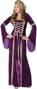 Renaissance Lady - Camelot long velvet gown
