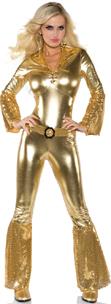 Hot Pants Gold Lace up Front Jumpsuit