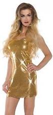 Dress short gold sequin mini dress