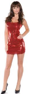 Dress short red sequin mini dress