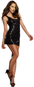 Dress short black sequin mini dress