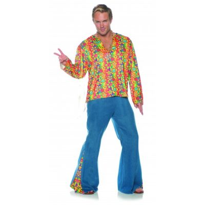 Hippie Boogie Down Adult Mens 60s Costume