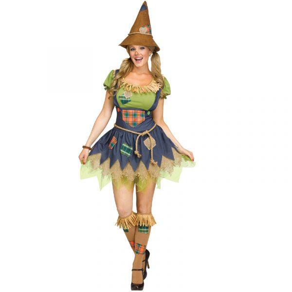 Ladies Scarecrow costume w/ hat