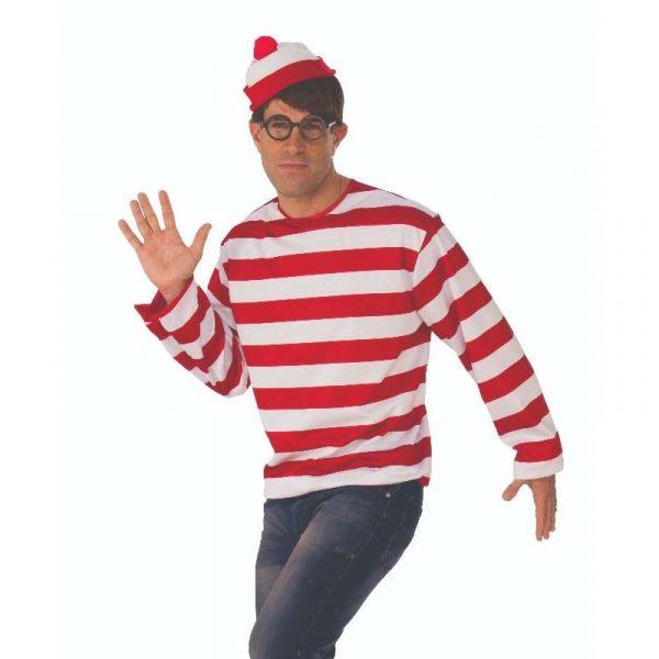 Where's Waldo Shirt, Hat, and Glasses