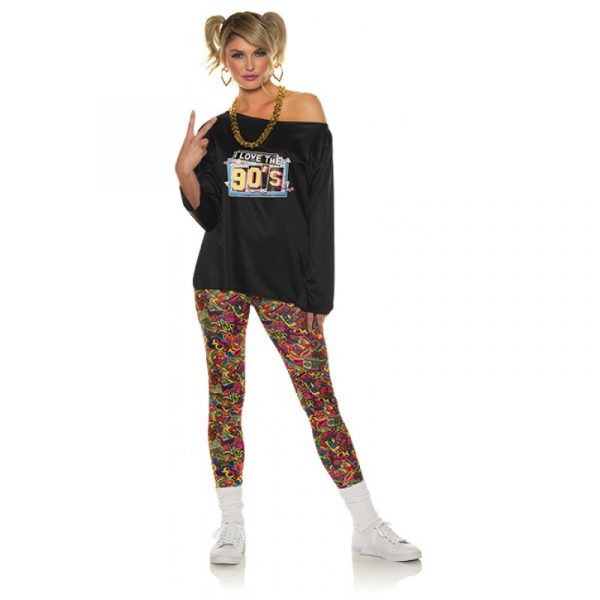 90s Fly Girl Off-the-Shoulder Shirt