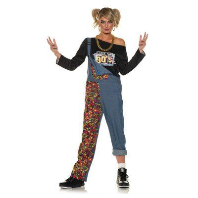 90s Women's Bib Overalls Word UP