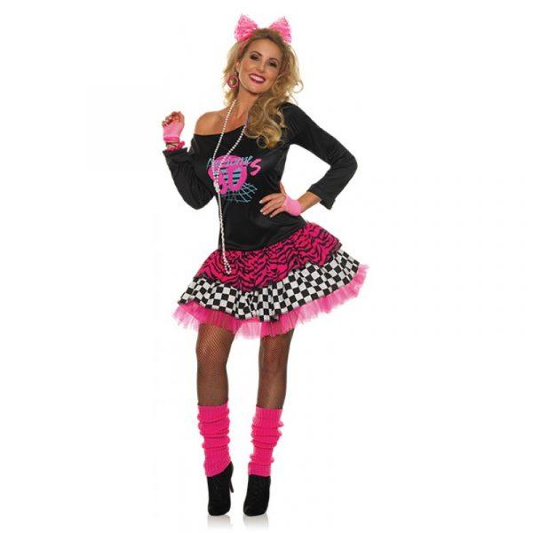 80s Pretty in Pink Mini Dress