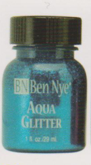 Blue Aqua Glitter Paint Make-Up