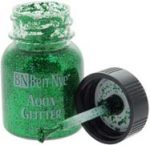 Glitter body paint makeup neon green sparkle