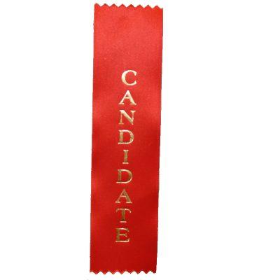 Candidate Designation Ribbon - Flat Satin Ribbon