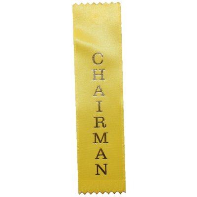 Chairman Designation Ribbon - Flat Satin Ribbon