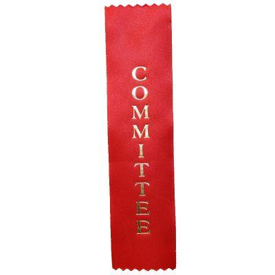 Committee Designation Ribbon - Flat Satin Ribbon
