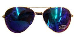 Blue Mirror Lens Aviator Sunglasses