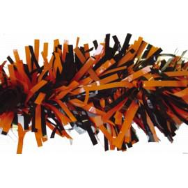 """Orange/Black Decoration Garland, 4"""" x 15'"""