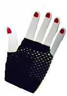 Fishnet Fingerless Gloves - Black