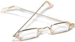 Rectangular Eyeglasses Granny or Hippie Glasses