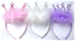 Deluxe Diamond/Marabou Headband Crown