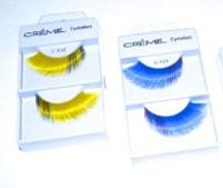 Eyelashes long luxurious yellow black or blue navy