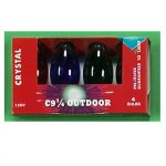 C9 1/4 Steady Burning Transparent Christmas Light Bulbs