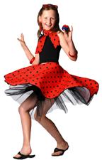 Girls Sock Hop Skirt, Scarf