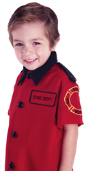 Fireman Shirt in Red and Black