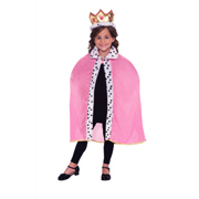 Queen Cape and Crown Set - Pink