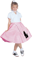 Poodle Skirt Pink w/ black poodle and sequin leash