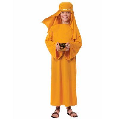 Child Wiseman Robe Costume - Gold