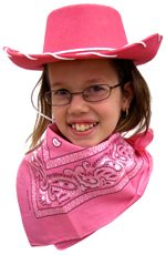 Cowgirl Hat with White Cording - Available in 4 Colors