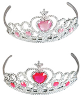 Plastic Tiara with Heart Stones