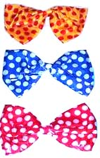 Clown Bowtie Jumbo polka dot fabric