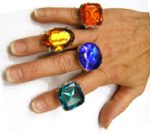 Large Colorful Costume Rings