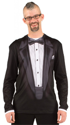 Tux T-Shirt Tuxedo Cumberbund wedding black tie