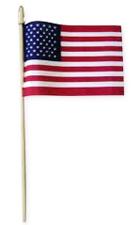 "4""X6"" Nylon U.S. Flag On Stick"