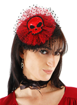 Skull Headpiece And Collar with Tulle