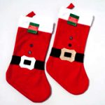 Christmas Stocking - Santa Belt and Buttons Theme