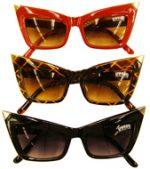 Metallic Pointed Tip Sunglasses