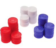 Plastic Poker Chips - 100 pcs