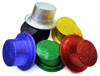 Glittered Top Hat - Assorted Colors