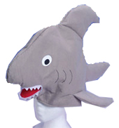 Gray Fabric Shark Hat