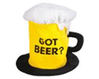 Fabric Beer Mug Hat That Says Got Beer