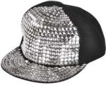 Silver Studded Ball Cap adjustable