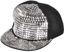 Silver Studded Ball Cap adjustable