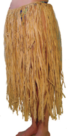 Ladies Raffia Hula Skirt