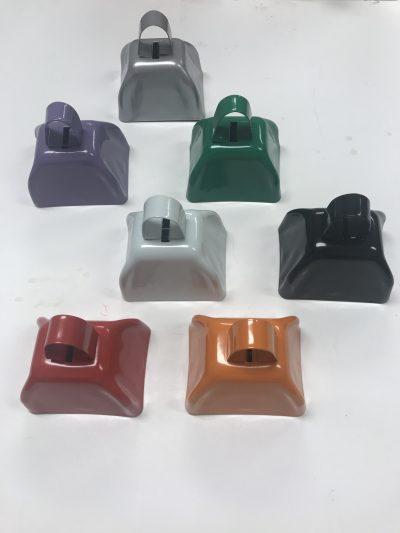 Cowbells assorted colors